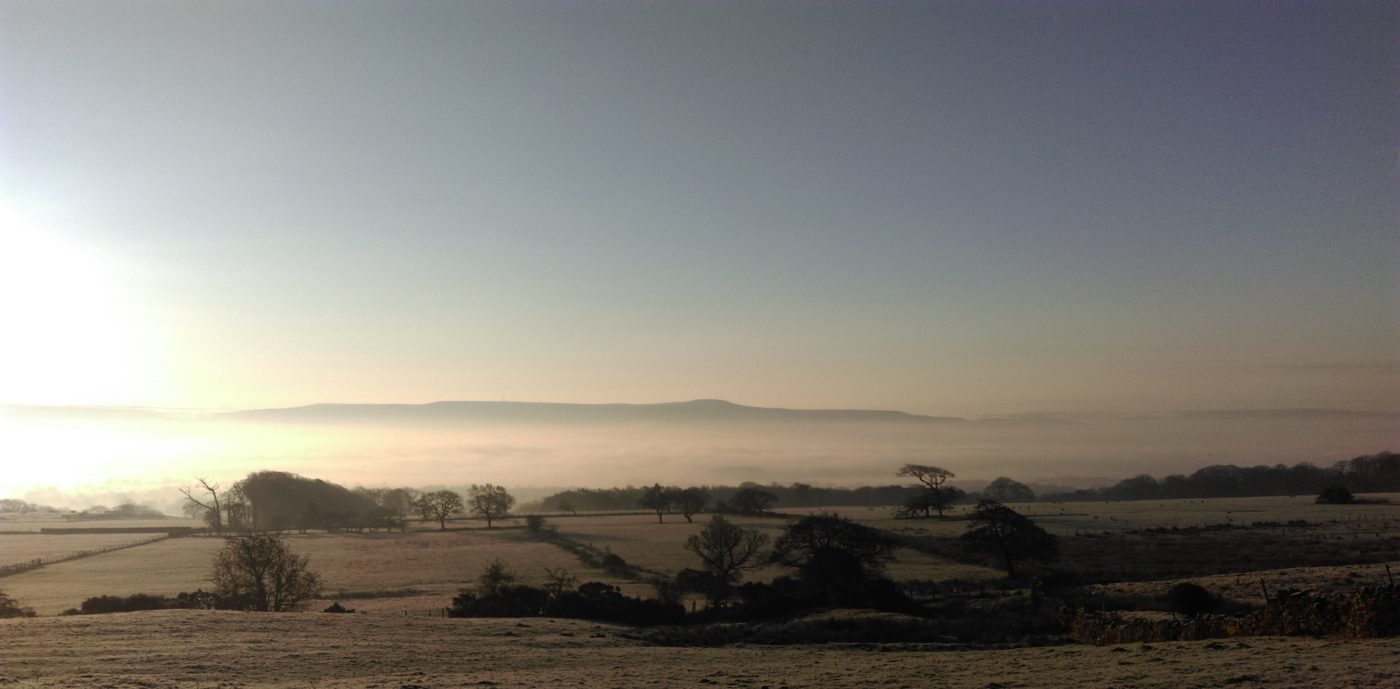 Inversion viewed from Black Hill & looking toward Great Hameldon